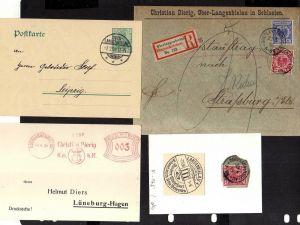 v165 Ober Langenbielau R-Brief Einschreiben 1895 R-Zettel geschnitten Ganzsache