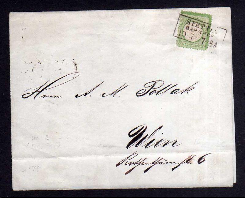 v092 aus Stettin Sammlung Deutsches Reich 2a Stettin Bahnhof 1872 Briefteil / St
