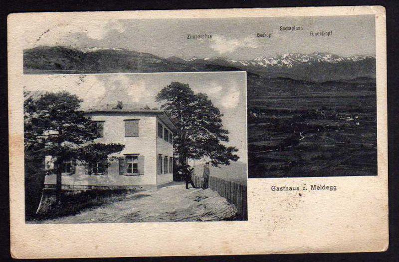 Ansichtskarte Gasthaus Meldegg 1913 Walzenhausen Appenzell