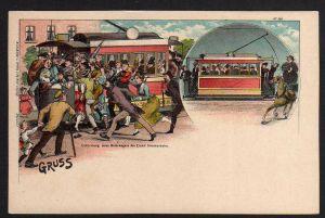 Ansichtskarte Die elektrische Bahn kommt Leipzig Bruno Bürger & Ottillie Nr. 365