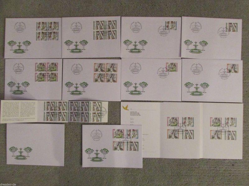 Schweiz Pro Partia 2000 verschiedene FDC MH Folder