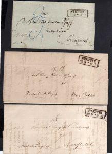 v076 aus Stettin Sammlung 3 Briefe Preußen 1853 1855 nach Neustettin Creuznach