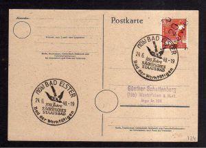 h1850 Handstempel Bezirk 20 Osterwieck Postkarte SST Bad Elster
