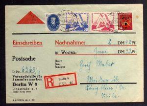 B1255 DDR 1951 Leipziger Frühjahrsmesse Nachnahme 270 282 283  Postsache der Ver