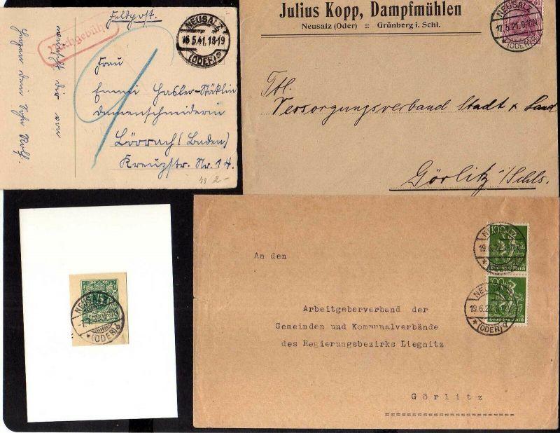 v201 Neusalz an der Oder 4 Ganzsachen Eisenhütten & Emaillierwerk 1882  Brief Da