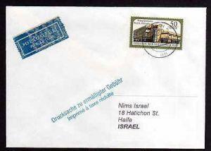 DDR 1987 Einzelfrankatur EF DDR 3147 Luftpost Drucksache nach Israel