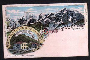 Ansichtskarte St. Gertraud im Suldental Tirol 1899 Sulden