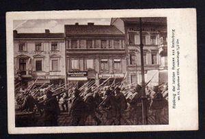 Ansichtskarte Insterburg Ostpreußen Rückzug der letzten Russen 1914 Apotheke Drogerie