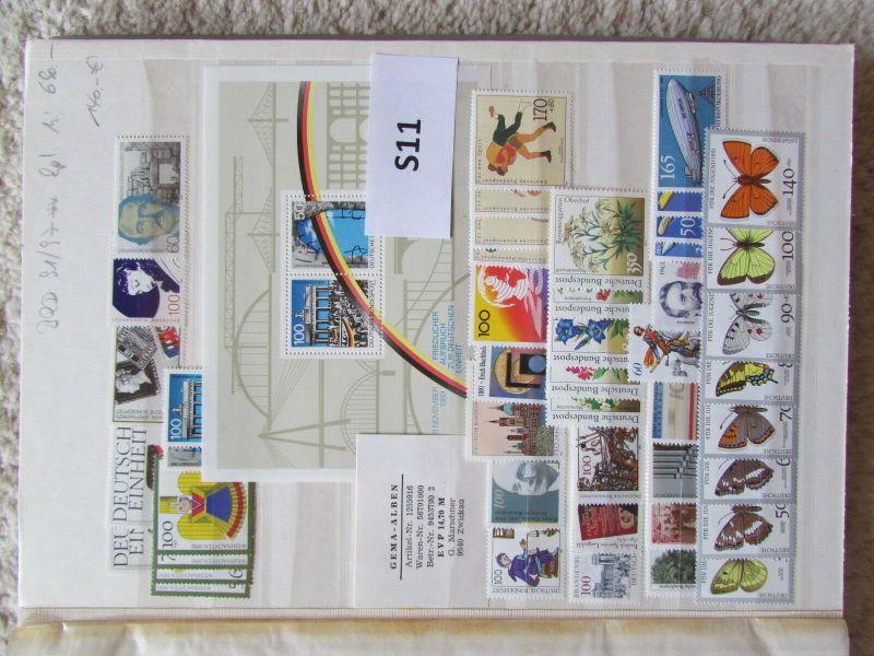S11 Sammlung Deutschland 1991 - 1997 ** im Einsteckalbum