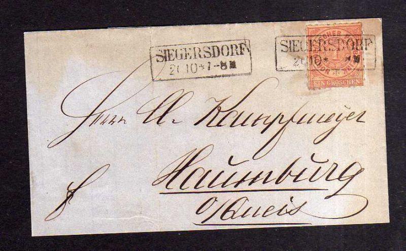 v186 Siegersdorf 1868 NDP Faltbrief