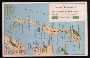 Ansichtskarte Spezial Wanderkarte Insel Hiddensee