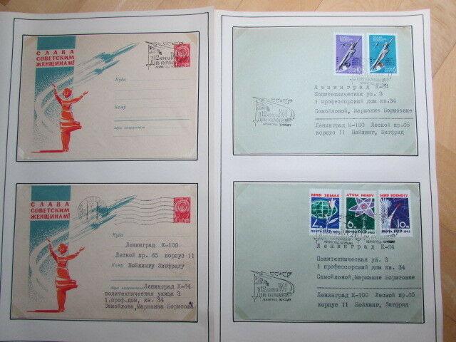 Sowjetunion um 1964 Sammlung Weltraum 25 Seiten 48 Belege Ganzsachen