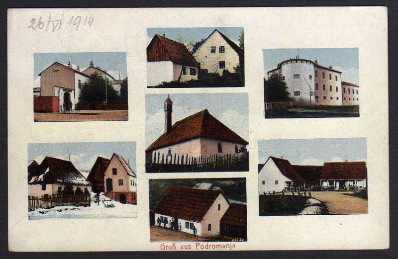 Ansichtskarte Podromania 1914 7 Häuseransichten