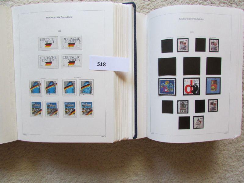 S18 Abo Sammlung BRD Deutschland 3.10.1990 bis 2000 postfrisch bis 2001 gestempe