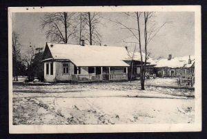 Ansichtskarte Posen 1917 1. Weltkrieg Gehöft in Russland im Winter Schnee