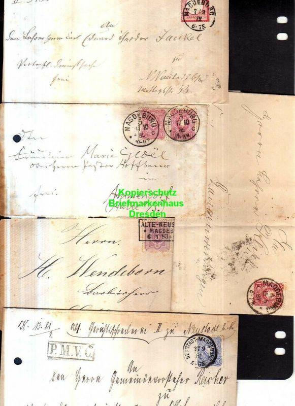 v853 5x Faltbrief Brief DR 19 Magdeburg 1872 Alte Neustadt Heimatsammlung 5 vers