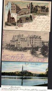 3 Ansichtskarte Chemnitz 1897 Litho Bahnhof Carola Hotel Markus Kirche