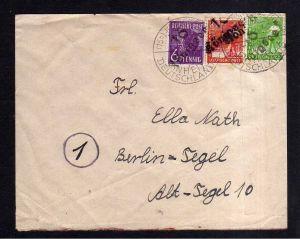 h1966 Handstempel Bezirk 16 Königsee Brief 2.7.48 SST Einheit Deutschlands