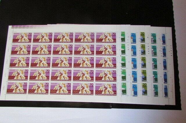 DDR 1975 Bogen 2099 - 2104 postfrisch mit Druckvermerk DV FN Olympia Innsbruck