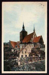 Ansichtskarte Rostock 1912 Mühlentor Nicolaikirche
