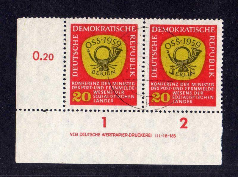 DDR 1959 686 DV Druckvermerk gestempelt Konferenz der Minister des Post- und