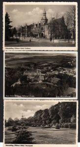 3 Ansichtskarte Bad Schmiedeberg Dübener Heide Kurhaus Sonnenpark Luftbild Fliegerauf