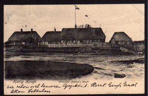 Ansichtskarte Hallig Hooge Wirtschaft Gasthaus Bakkens Werft 1905