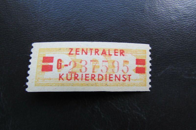 DDR ZKD Dienstmarken Wertstreifen B 19 II G ** Original !!!