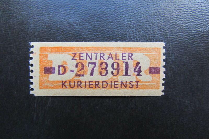 DDR ZKD Dienstmarken Wertstreifen B 22 D ** Original !!!