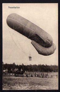 Ansichtskarte Fesselballon Militär Kriegsphotograph III. Armee um 1915