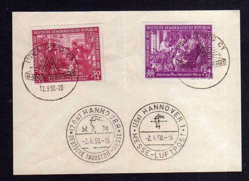 Gedenkblatt Leipziger Messe 1950 SST Ausländer Treffpunkt + SST Hannover