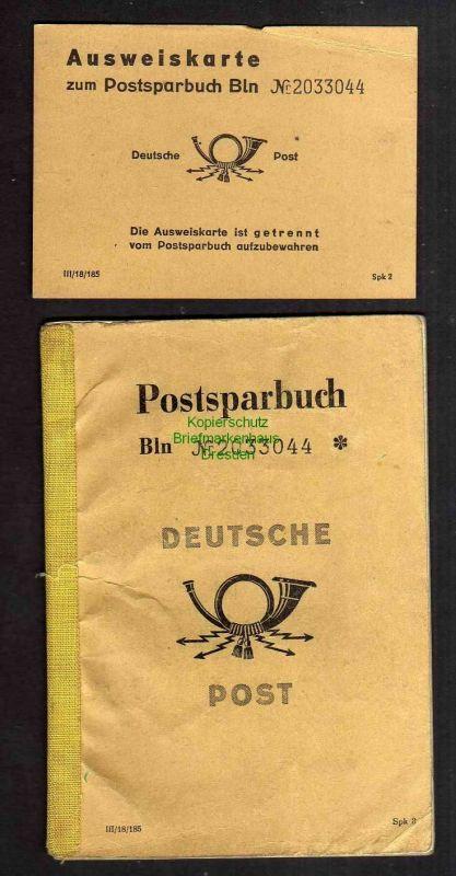 Postsparbuch 1963 - 1963 Dresden Neustrelitz Rechlin