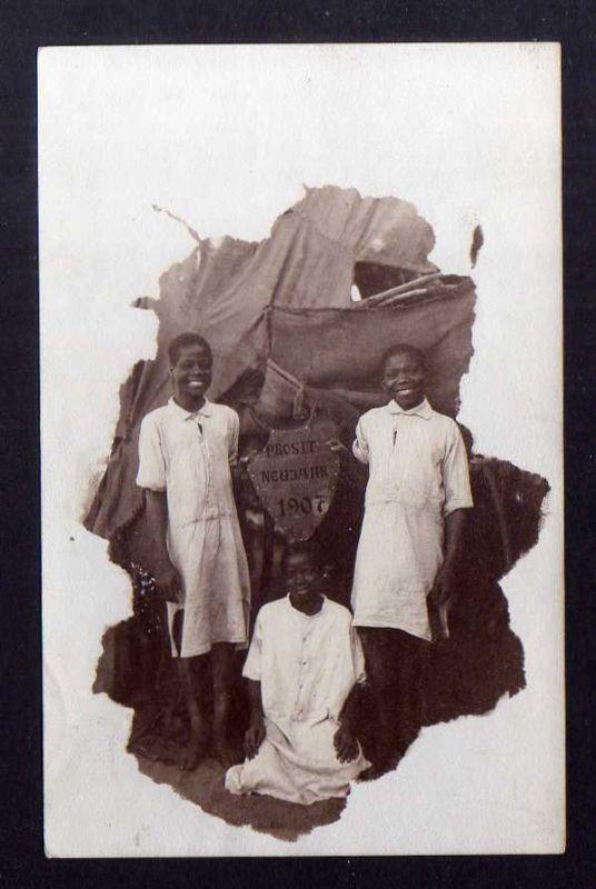 Ansichtskarte DSW Deutsch Südwestafrika Prosit Neujahr 1907 Okahandja 1906