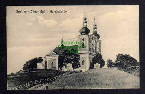 Ansichtskarte Jägerndorf Burgbergkirche 1910 mit Stadtbeschreibung