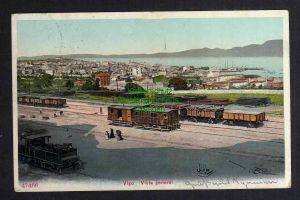 Ansichtskarte Vigo Pontevedra Galicien Spanien Bahnhof um 1905