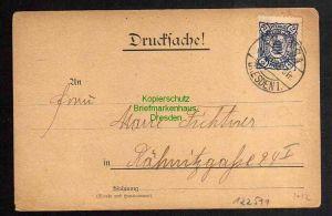Ansichtskarte Privatpost Hansa Dresden 1898 Richters Arbeiterschuhe Reklame