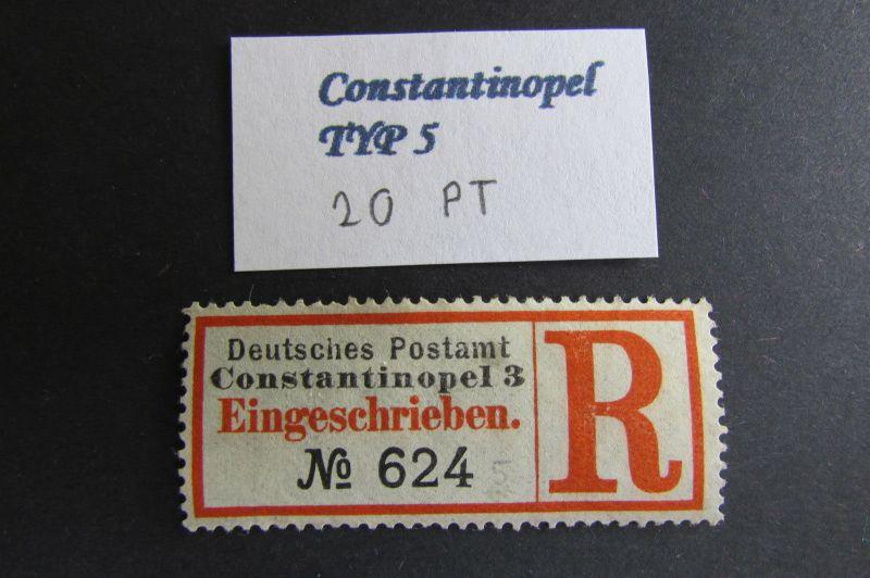 Kolonien Einschreiben R Zettel Türkei Constantinopel 3 Eingeschrieben Deutsches