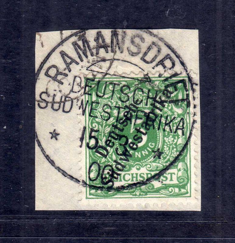 B2596 Südwestafrika Luxus Briefstück Ramansdrift