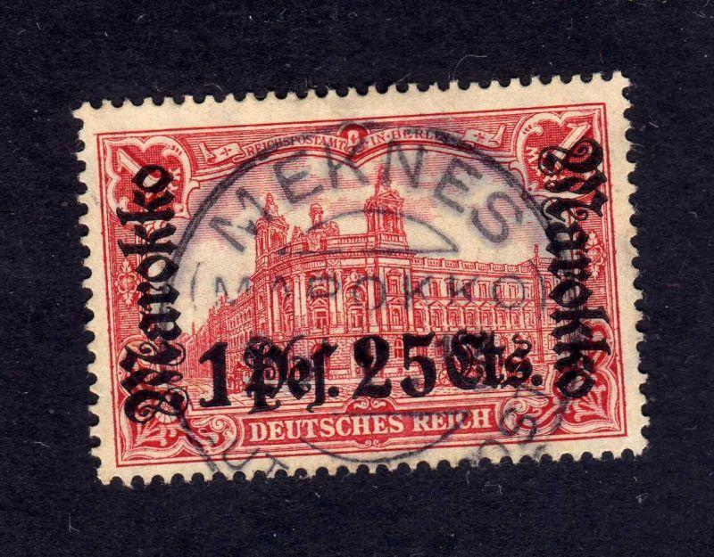 B2597 Marokko 55 IA gestempelt Meknes 1914