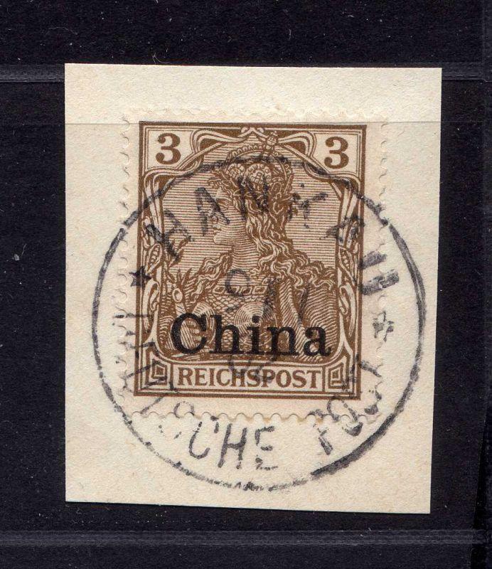 B2556 DP in China 15b Luxus Briefstück Hankau 1902
