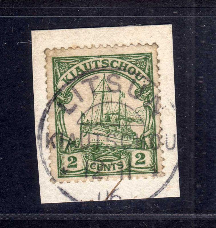 B2573 Kiautschou 19 Luxus Briefstück Litsun 1906
