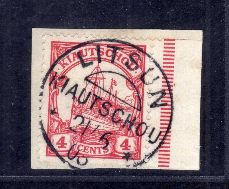 B2574 Kiautschou 20 Luxus Briefstück Litsun 1906