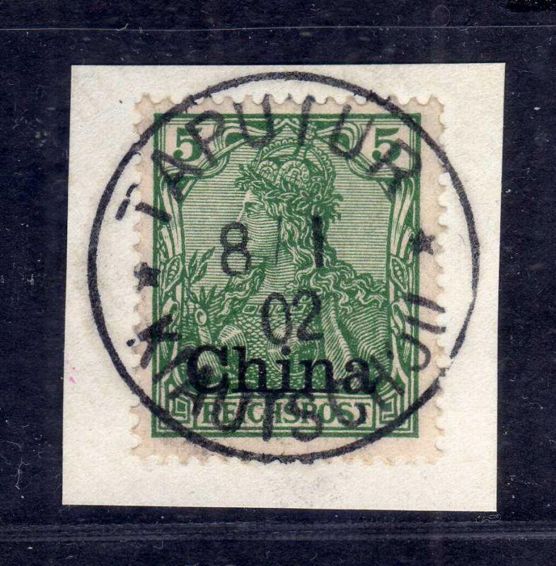 B2568 Kiautschou Luxus Briefstück Taputur 1902