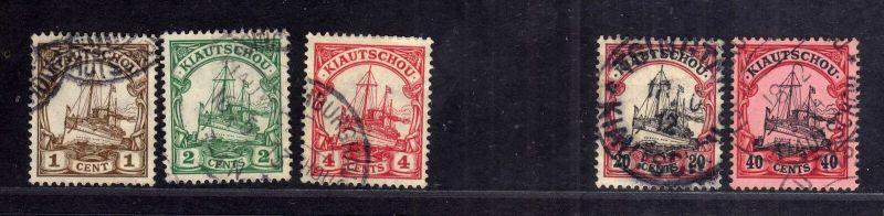 B2580 Kiautschou 28 - 30, 32, 33 gestempelt