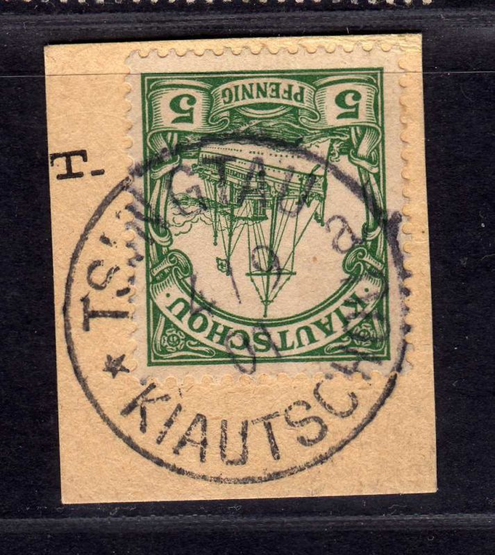 B2570 Kiautschou 6 Luxus Briefstück Tsingtau a