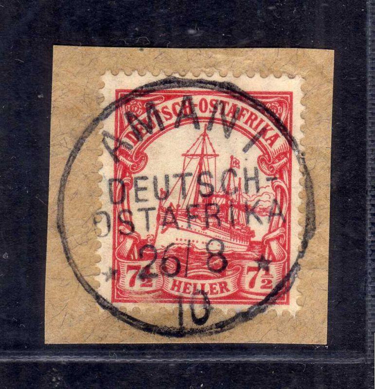 B2593 Ostafrika Luxus Briefstück Amani 1910