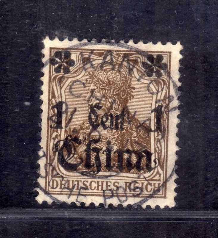 B2562 DP in China 38 Vollstempel Kanton 2 21.6.1913