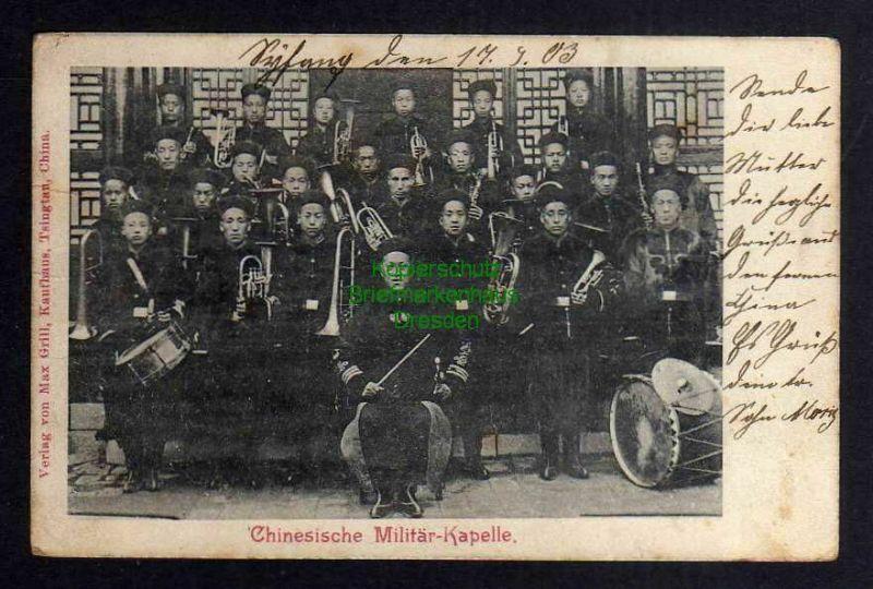 Ansichtskarte China 1903 Chinesische Militär Kapelle Tsingtau