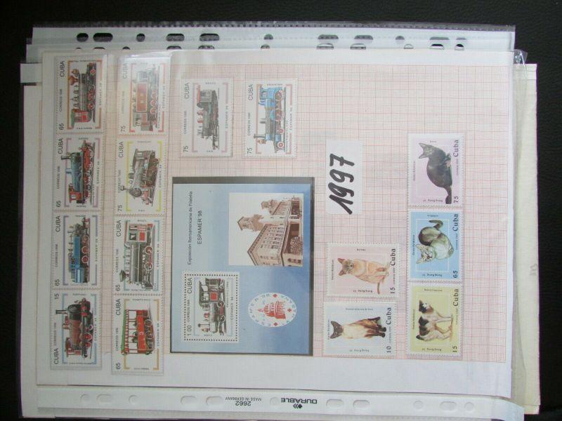 S305 Cbua 1995 - 2003 postfrisch mit Lücken, schöne Motive WWF Kleinbogen 10
