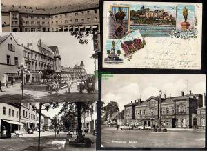 5 Ansichtskarte Bernburg Litho 1899 Kreis Haus Bären Schlosszwinger Thälmannstraße